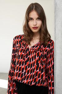 Bluse Lobelia mit abstrakten Print - ME&MAY