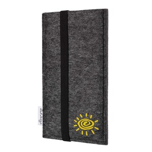 Handyhülle COIMBRA mit Sonne für Samsung Galaxy S-Serie - VEGAN - Filz Tasche - flat.design