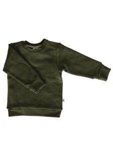 Fleece Sweatshirt Bio-Baumwolle Langarmshirt Pullover thymian - Leela Cotton