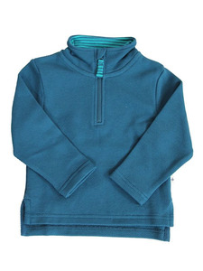 Troyer Piquestoff Bio-Baumwolle Langarmshirt Pullover  - Leela Cotton