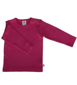 Baby Kinder Langarmshirt  Bio-Baumwolle Oberteil T-Shirt Pink - Leela Cotton