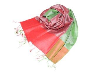 FRANGIPANI Edler Schal aus handgewebter Seide - Schönes aus Indochina