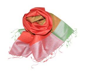CHLOE Edler Schal aus handgewebter Seide - Schönes aus Indochina