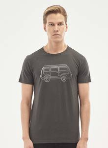 T-Shirt aus Bio-Baumwolle mit Camper-Van-Print - ORGANICATION