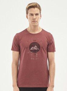 T-Shirt aus Bio-Baumwolle mit Berg-Print - ORGANICATION