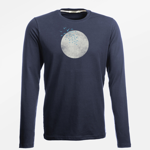 Longsleeve Jazzy Nature Birds Moon - GreenBomb