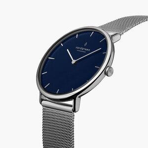 Armbanduhr Native Lille Silber | Blaues Ziffernblatt - Mesharmband - Nordgreen Copenhagen