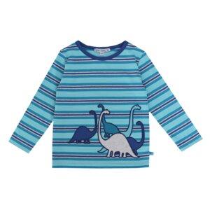 Enfant Terrible Kinder Ringel-Langarm-Shirt Dinos - Enfant Terrible