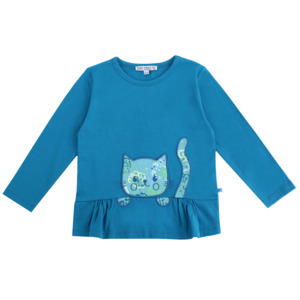 Enfant Terrible Mädchen Tunika mit Katzentasche - Enfant Terrible