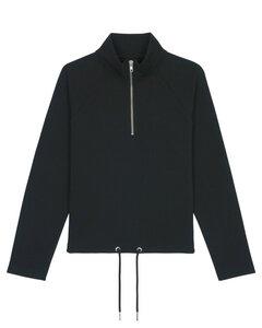 "Bio Damen Sweatshirt mit halbem Reißverschluss ""Cozy - HF"" - Human Family"