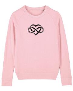 "Bio Damen Rundhals Sweatshirt ""Feel - Endless Love"" - in 7 Farben - Human Family"