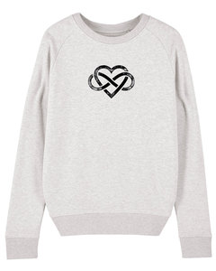 "Bio Damen Rundhals Sweatshirt ""Feel - Endless Love"" - in 7 Farben - Human Family"