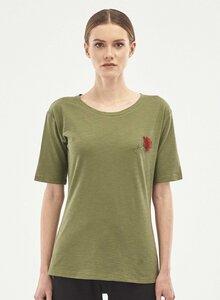 T-Shirt aus Bio-Baumwolle mit Blumenstickerei - ORGANICATION