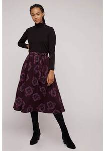 Tencel Midi Rock - Mary Jo Pansy Skirt - People Tree