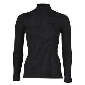 Damen Shirt Langarm mit Stehkragen Bio-Schurwolle/Seide - Engel natur