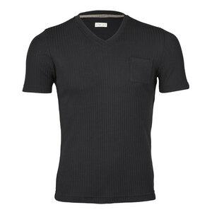 Herren Shirt Kurzarm mit V-Ausschnitt Bio-Schurwolle/Seide - Engel natur