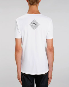 "Bio Herren V-Neck T-Shirt ""Geometric Questionmark"" in 3 Farben  - Human Family"