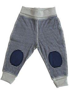 Wendehose blau-beige Bio-Baumwolle Hose - Leela Cotton