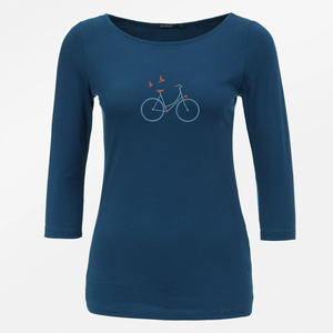 Longsleeve Flimsy Bike Birds - GreenBomb