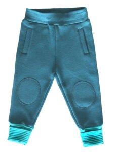 Hose aus türkisem Piquestoff Bio-Baumwolle  - Leela Cotton