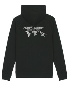 """Bio Unisex Hoodie - """"Shelter - Protect our Planet""""  - Human Family"""