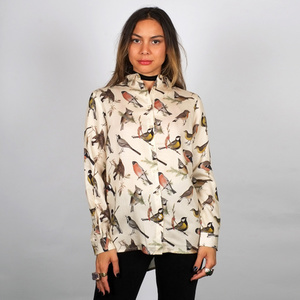 Shirt Dorothea Autumn Birds Off-White / Off-White - DEDICATED