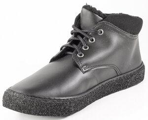 Hohe Winter Sneaker Vegan Unisex  LAVOS (Microfaser, gefüttert,  schwarz) - Fairticken