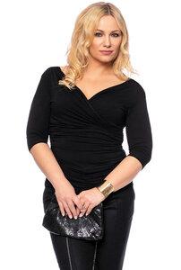 JULIETT 3/4-Arm Shirt aus Modaljersey in schwarz - Ingoria