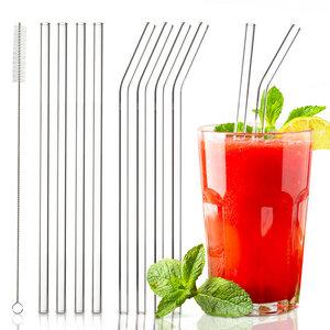 8x Strohhalme aus 100% Glas | Mehrweg Glasstrohhalme Trinkhalme - Skojig