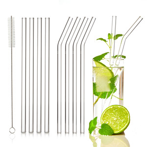Glas Trinkhalme ( 4x gerade & 4x geknickt) | Strohhalm 23cm Länge - Skojig