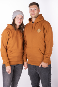 "Unisex Kapuzenhoody ""ELKapuze"" in roasted orange - ecolodge fashion"