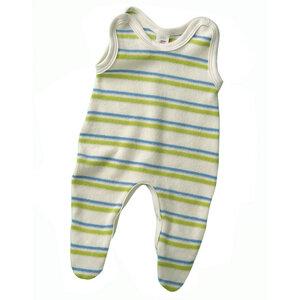 Baby Strampler mit Fuß Bio-Baumwolle  - Engel natur