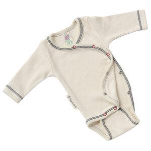 Baby Wickelbody Langarm Bio-Baumwolle - Engel natur