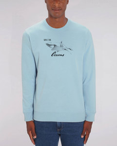 "Bio Unisex Rundhals-Sweatshirt - ""Switch - Save Oceans"" in 3 Farben - Human Family"