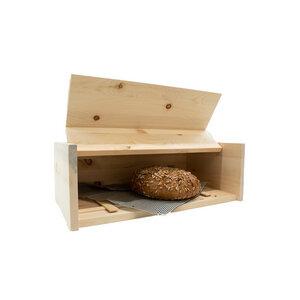 Brotkasten aus Zirbenholz mit Zirbenholz-Gitter inkl. Bienenwachstuch - 4betterdays