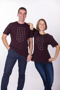 """Unisex T- Shirt """"ELWeg"""" in heather grape red - ecolodge fashion"""