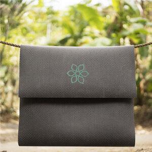 Divine Flower Yoga Mat, stitched Flower - Divine Flower by Ursula Karven