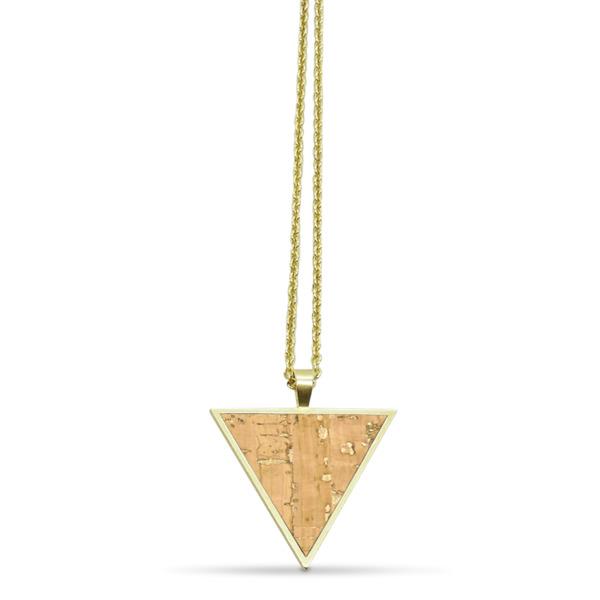 Dreieckige Halskette Mit Kork | Infinitylove Collection
