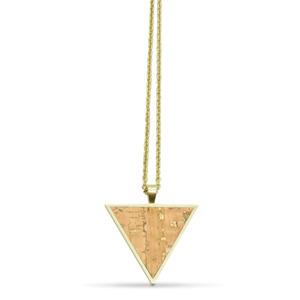 Dreieckige Halskette mit Kork | InfinityLove Collection - KAALEE jewelry