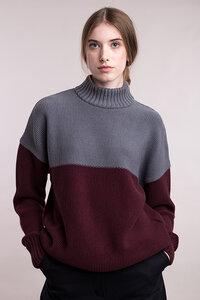 Gestrickter Pullover in Blockfarben - Mila.Vert