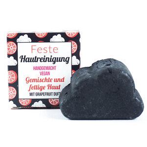 Feste Gesichtsreinigung - Grapefruit - für fettige Haut  - Lamazuna