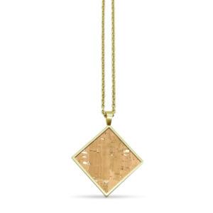 Quadratische Halskette mit Kork | InfinityLove - KAALEE jewelry
