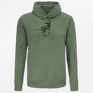 Hooded Sweater Star Bike Sausage Dog - GreenBomb