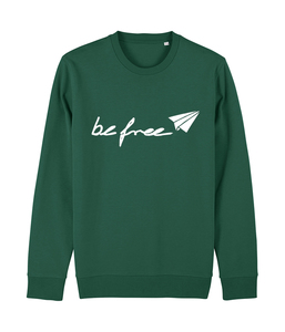 be free - Unisex Logo-Sweatshirt   - DENK.MAL Clothing