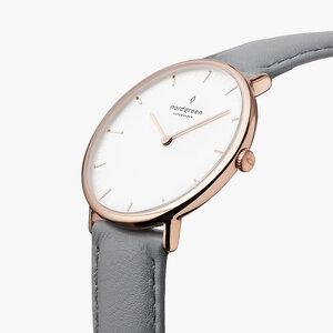 Armbanduhr Native Roségold | Weißes Ziffernblatt - Veganes Leder - Nordgreen Copenhagen