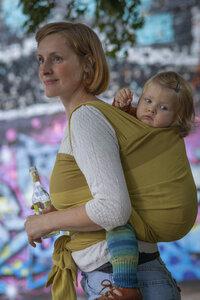 """Veganes Babytragetuch """"Sóley"""" 100% Bio-Baumwolle - Mama Nuka– Dein Babytragetuch"""
