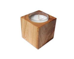 Kerzenhalter CUBO aus Olivenholz - Olivenholz erleben