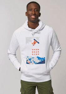 Hoodie ohne Kängurutasche mit Motiv / Snowboarding - Kultgut