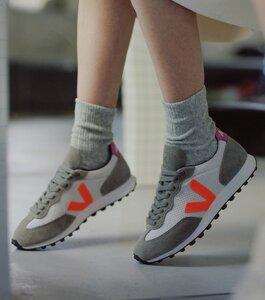 Sneaker Damen - Riobranco Hexamesh - Gravel Orange Fluo Ultraviolet - Veja
