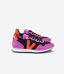 Sneaker Damen - SDU Hexa B-Mesh - Black Ultraviolet Orange Fluo - Veja